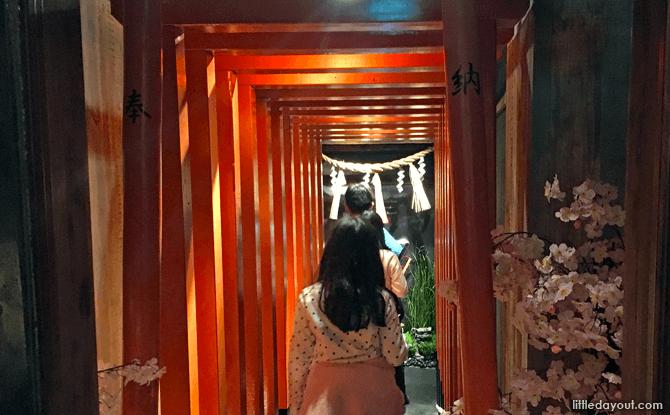 Torii Gates Entrance to Ninja Trick House in Tokyo