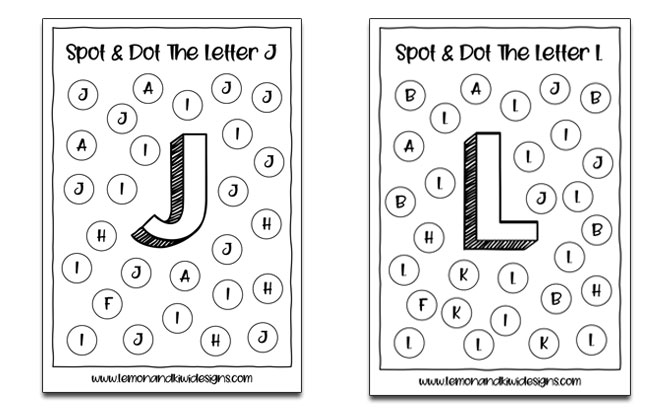 Download Free Alphabet Spot And Dot Printable