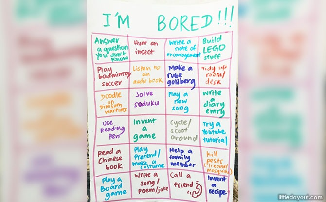 """5 Minute Parenting Hack: How To Make An """"I'm Bored"""" Activity Board"""