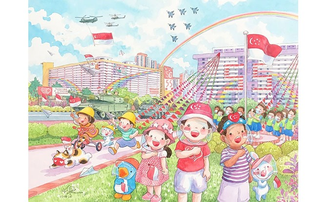 Ah Guo's National Day 2020 Colouring Activity