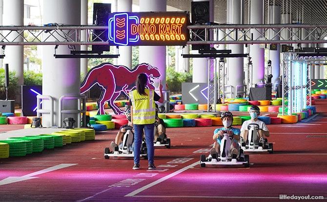 Dinosaur Go-karts at Changi Airport