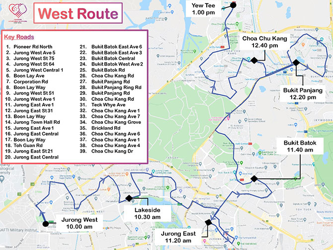 Mobile Column Route West