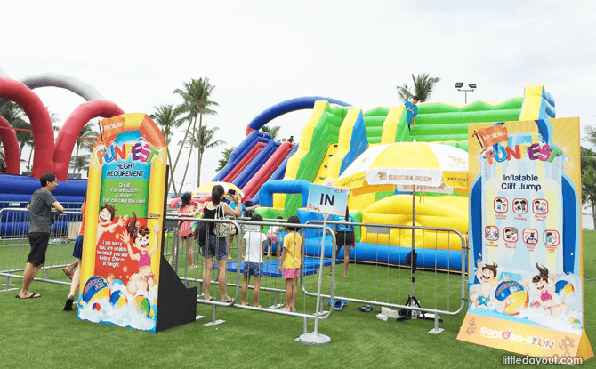 Sentosa FunFest 2016 inflatable cliff jump