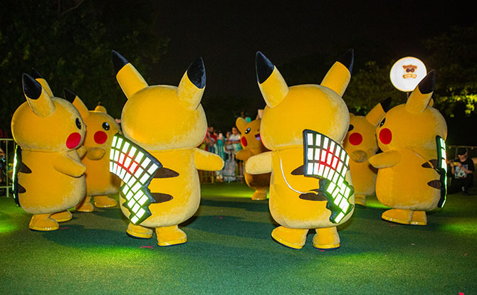 Pikachu Mini Lightning Parade, Sentosa