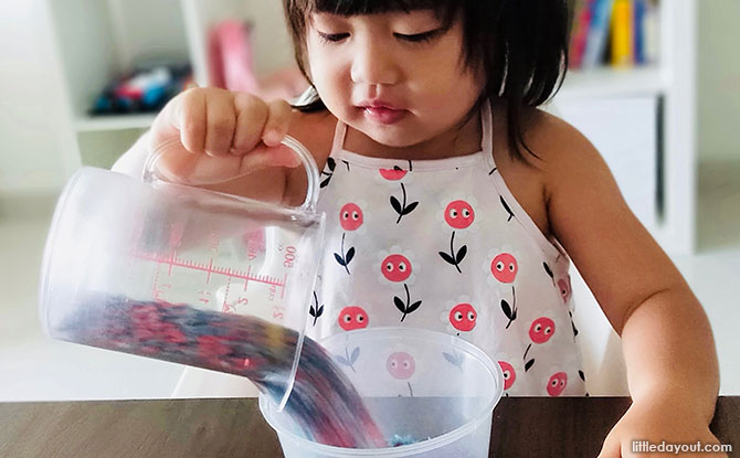 Coloured Rice - Sensory Play Ideas