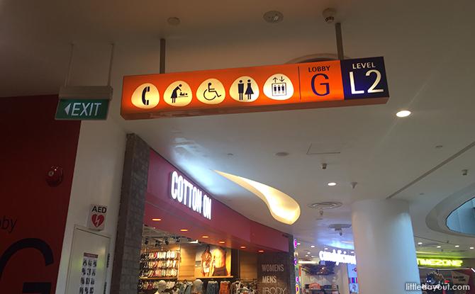 level 2, lobby G of vivocity