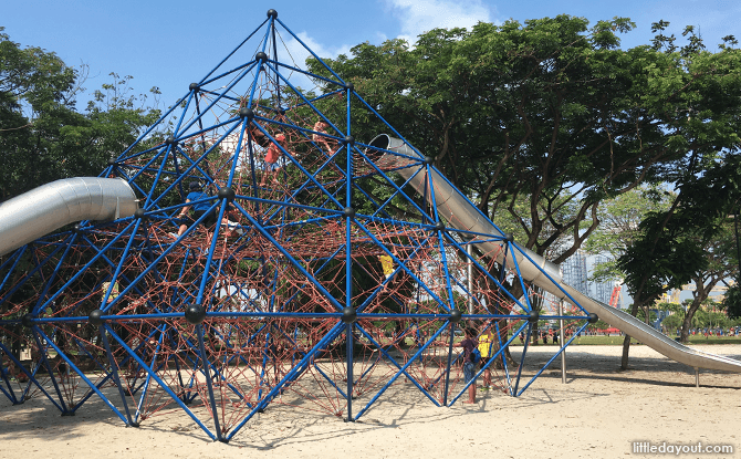 Climbing Pyramid at West Coast Park Playground