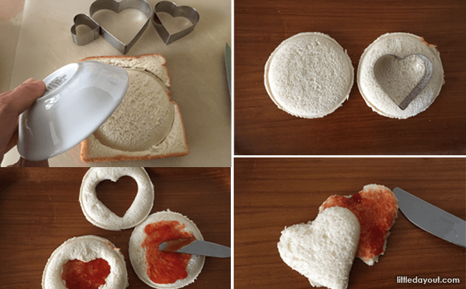 Heart-shaped Foods for Valentine's Day - Sweetheart Bread Steps