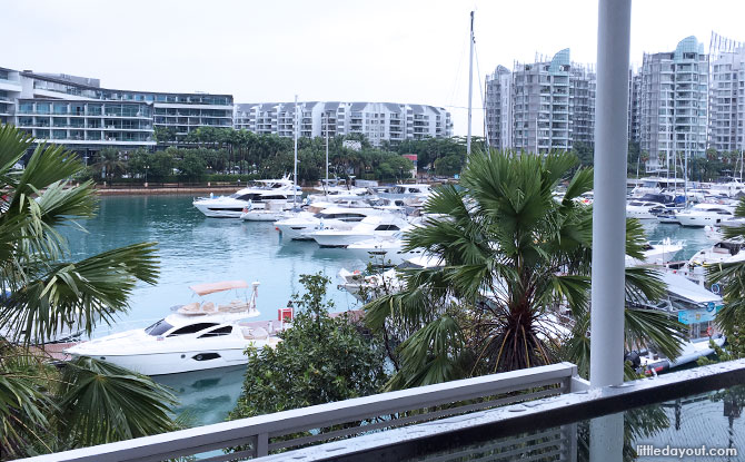 View from One15 Marina Sentosa Cove room