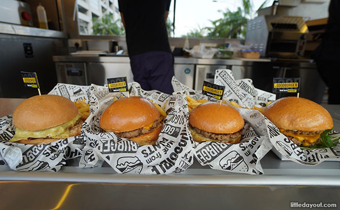 """The Goodburger is a food truck and the first and only place in Singapore that serves an exclusively """"Impossible"""" menu."""