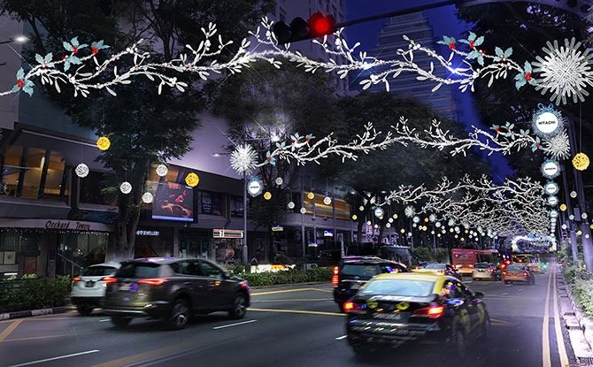Orchard Road Christmas Light Up 2020