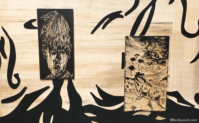 Woodcuttings, Being Yourself by Chng Seok Tin