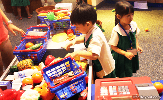 Role-play at KidsSTOP Singapore