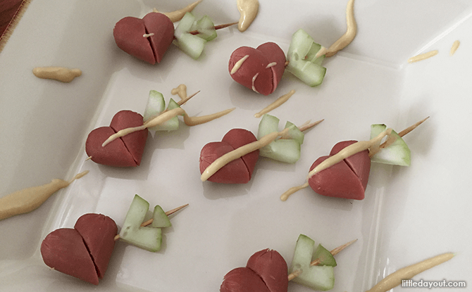 Heart-shaped Foods for Valentine's Day - Cupid's Mini Hot Dogs