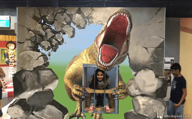AR Dinosaur at Trick Eye Museum Singapore