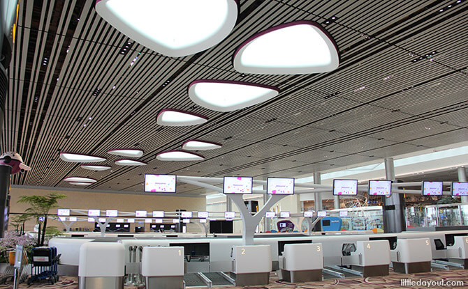Spot the Petal Motif on the Ceiling at T4