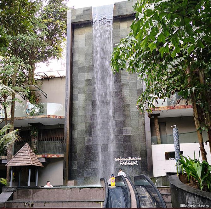 Siloso Beach Resort Waterfall
