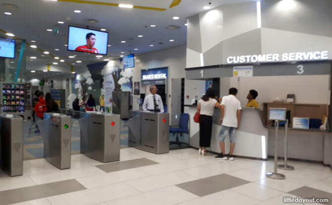 Ticketing Counter at The Rink, JCube, Jurong East