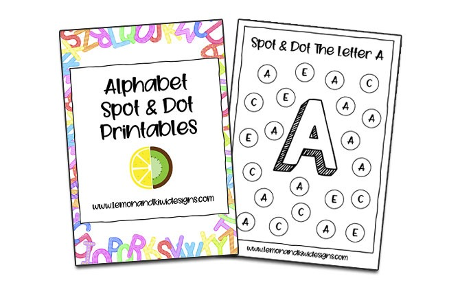 Free Alphabet Spot And Dot Printable
