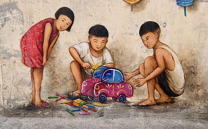 Mid-Autumn Festival Street Art