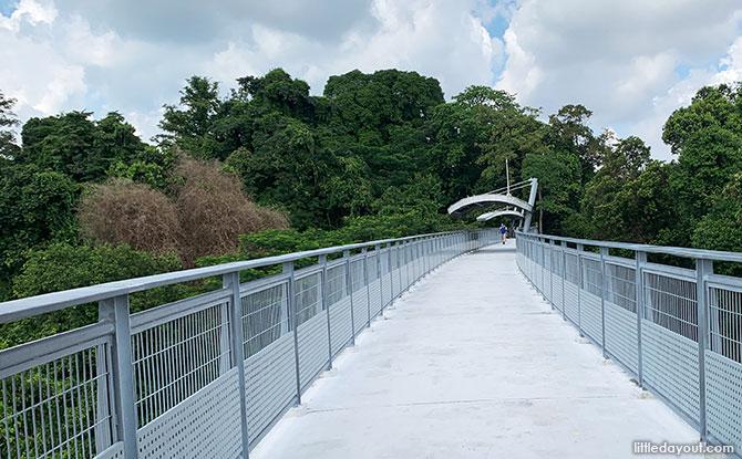 Walking along the Fort Siloso Skywalk