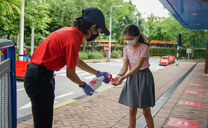 Disinfection at LEGOLAND Malaysia Resort Reopening
