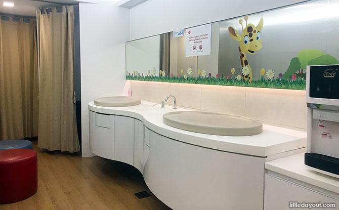 Diaper Changing Area, Lot 1 Shopper Mall Nursing Room