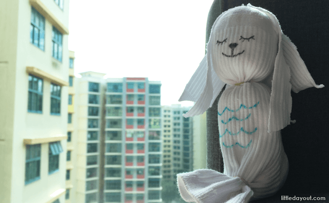 No-sew sock Merlion