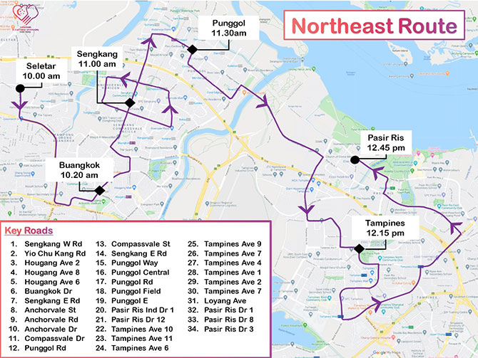 Northeast Mobile Column Route