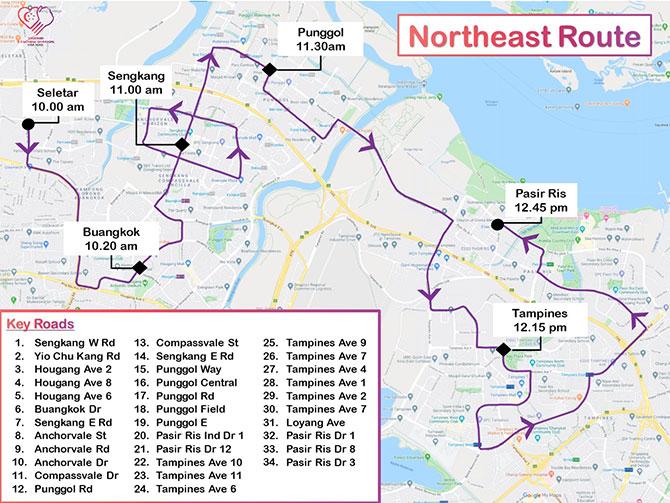Northeast Mobile Column Route