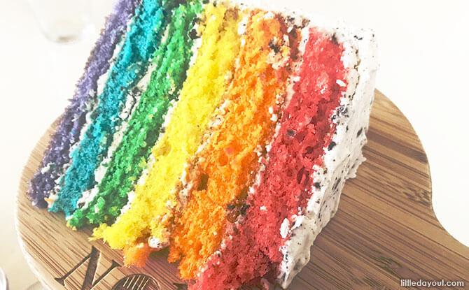 Rainbow Cake at NOM