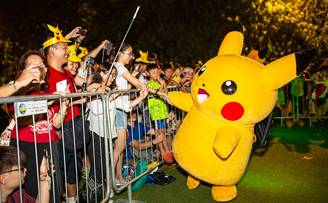 Pikachu at Pokemon Go Safari Zone