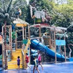 Splashing Good Time At Rainforest KidzWorld, the Singapore Zoo Children's Playground