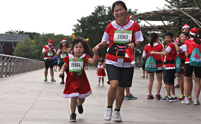 Santa Run for Wishes, organised by Make-A-Wish Foundation Singapore