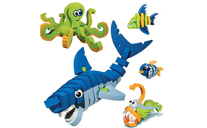 Bloco Toys Anklyosaur & Young Raptors or Marine Creatures - STEM Toys for Kids