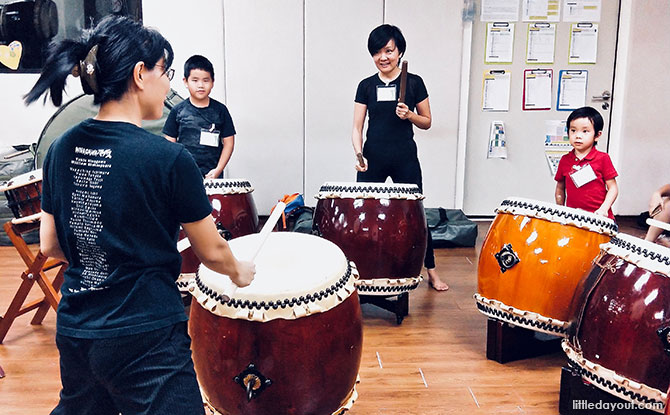 Experiencing Taiko Drums in Singapore