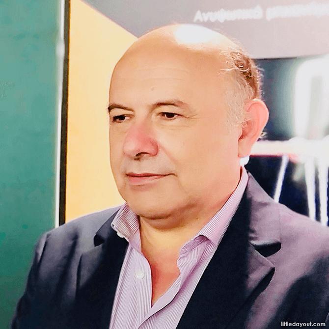 Mr Kostas Kotsanas, the founder of Kotsanas Museum of Ancient Greek Technology