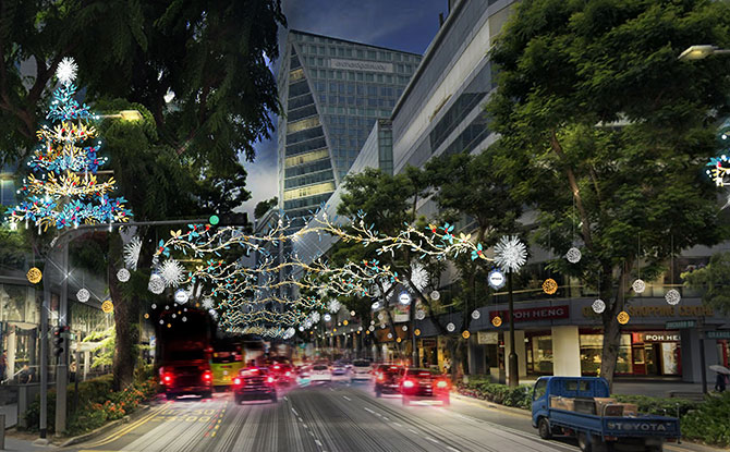 Uplifting Spirits with Dazzling Orchard Road Christmas Lights