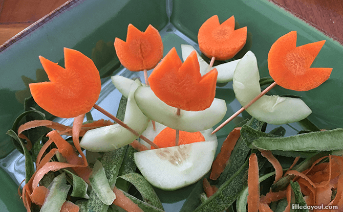 Heart-shaped Foods for Valentine's Day - Carrot Flowers