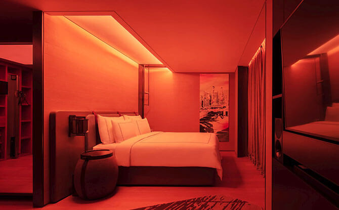 The Vitality Room at Swissotel the Stamford Singapore smart lighting technology from Signify
