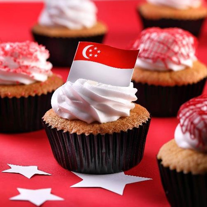 National Day cupcakes