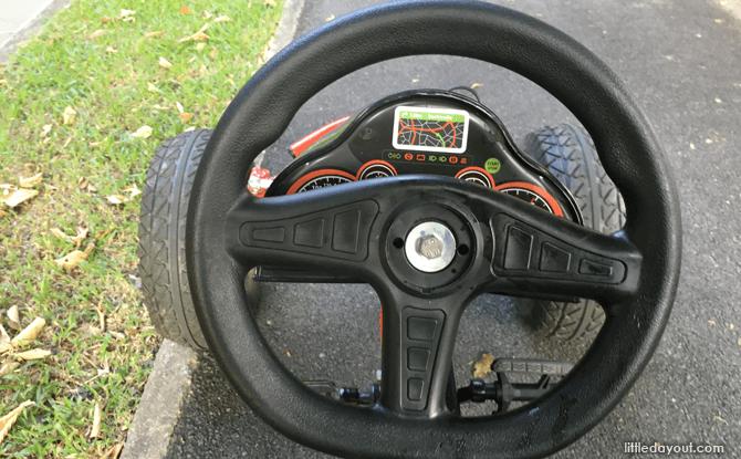 Pedal Go-kart steering wheel