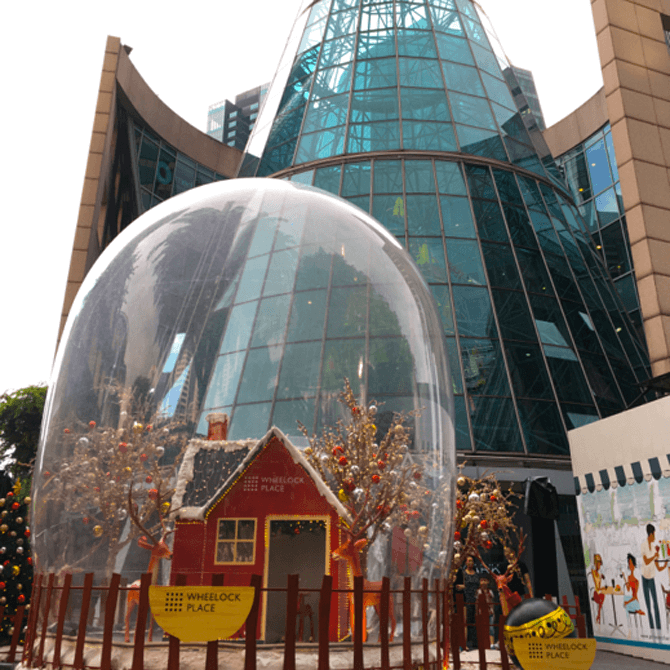 Snow Globe at Wheelock Place in the Day