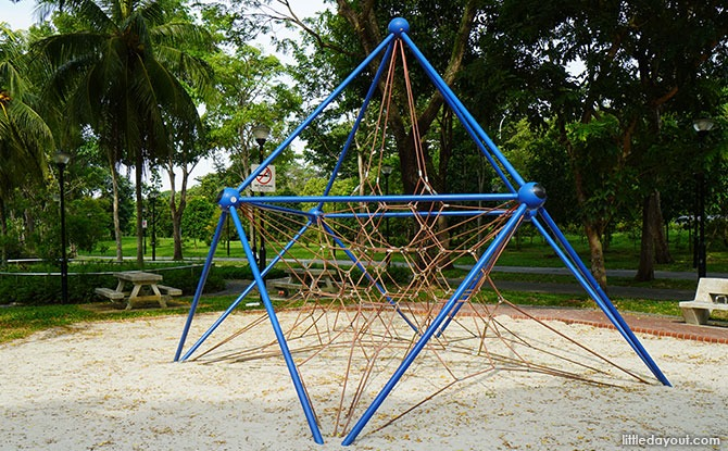 pyramid-rope structure at the Bedok Town Park