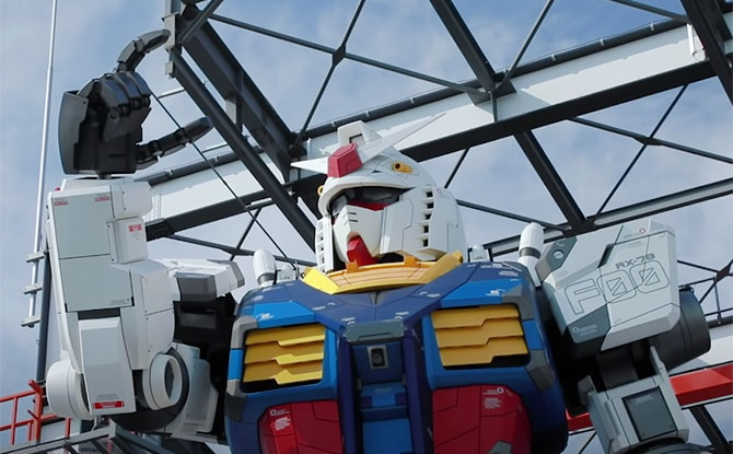 Moving Gundam at Yokohama Gundam Factory