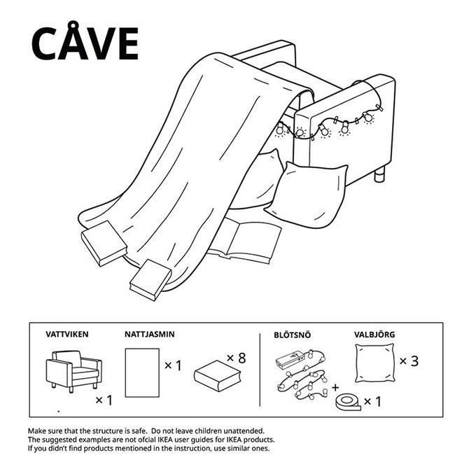 CAVE - IKEA Fort Design