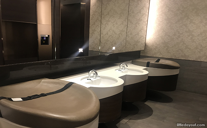 Sinks and diaper changing stations