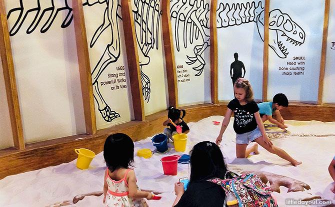 Dino Pit at KidsSTOP Singapore