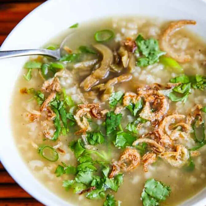 Brown Rice Turkey Porridge - Jeanette's Healthy Living Ideas on What to do with Leftover Turkey