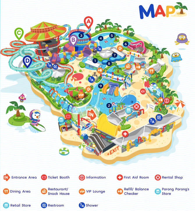 Map from Pororo Aqua Park's website